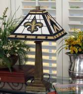 New Orleans Saints Stained Glass Mission Table Lamp