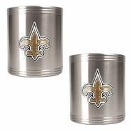 New Orleans Saints Stainless Steel Can Coozie Set