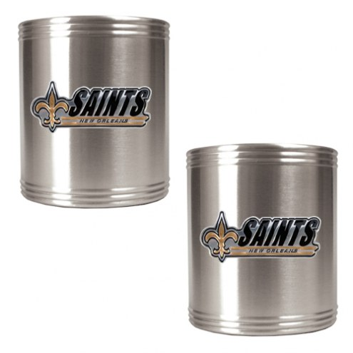 New Orleans Saints Stainless Steel Can Holder - Set of 2