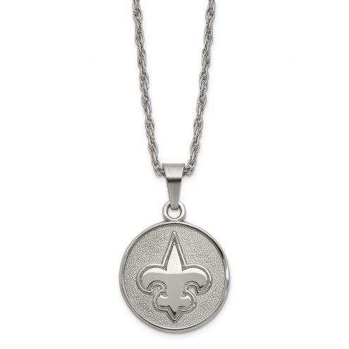 New Orleans Saints Stainless Steel Pendant on Chain