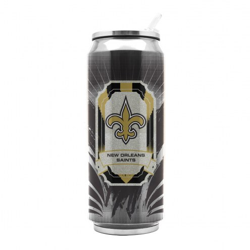 New Orleans Saints Stainless Steel Thermo Can