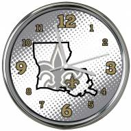 New Orleans Saints State of Mind Chrome Clock