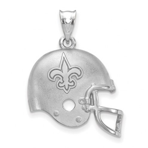 New Orleans Saints Sterling Silver Football Helmet Logo Pendant