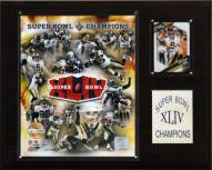"New Orleans Saints 12"" x 15"" Super Bowl XLIV Champions Gold Plaque"