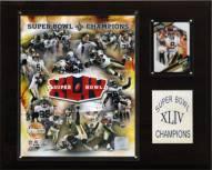 """New Orleans Saints 12"""" x 15"""" Super Bowl XLIV Champions Gold Plaque"""