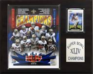 "New Orleans Saints 12"" x 15"" Super Bowl XLIV Champions Plaque"