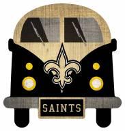 New Orleans Saints Team Bus Sign
