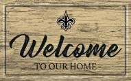 New Orleans Saints Team Color Welcome Sign