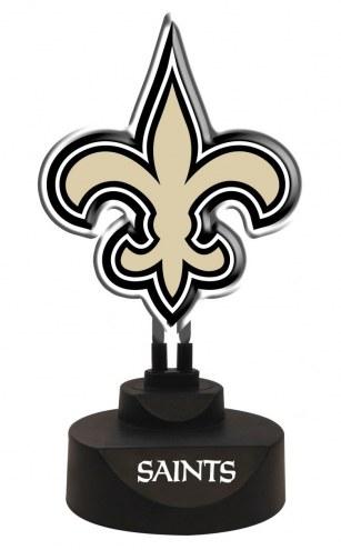 New Orleans Saints Team Logo Neon Light