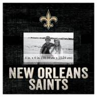 """New Orleans Saints Team Name 10"""" x 10"""" Picture Frame"""