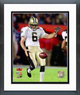New Orleans Saints Thomas Morstead Super Bowl XLIV Action Framed Photo
