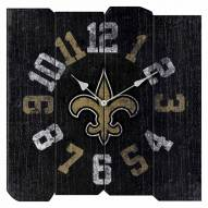 New Orleans Saints Vintage Square Clock
