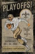 New Orleans Saints Vintage Wall Art