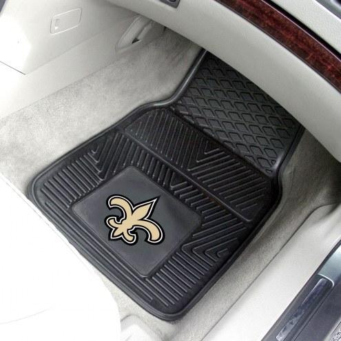 New Orleans Saints Vinyl 2-Piece Car Floor Mats