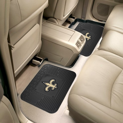 New Orleans Saints Vinyl 2-Piece Rear Floor Mats