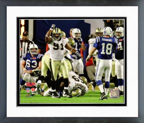 New Orleans Saints Will Smith Super Bowl XLIV Action Framed Photo