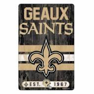 New Orleans Saints Slogan Wood Sign