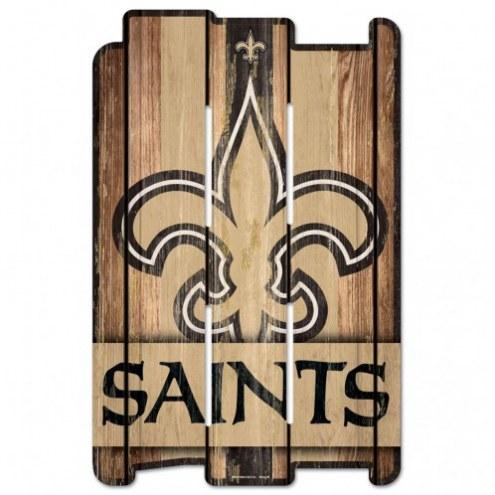 New Orleans Saints Wood Fence Sign