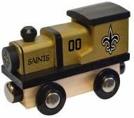 New Orleans Saints Wood Toy Train