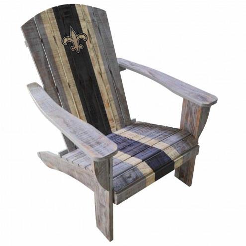 New Orleans Saints Wooden Adirondack Chair