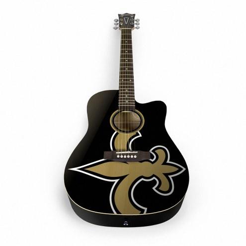 New Orleans Saints Woodrow Acoustic Guitar