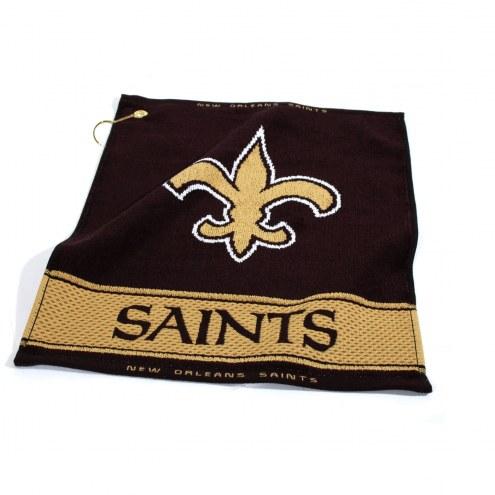 New Orleans Saints Woven Golf Towel