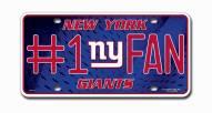 New York Giants #1 Fan License Plate