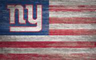 """New York Giants 11"""" x 19"""" Distressed Flag Sign"""