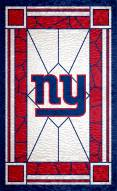 """New York Giants 11"""" x 19"""" Stained Glass Sign"""