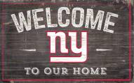 """New York Giants 11"""" x 19"""" Welcome to Our Home Sign"""