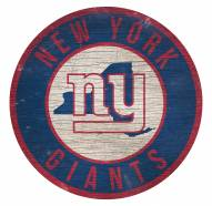 """New York Giants 12"""" Circle with State Sign"""