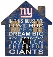 "New York Giants 12"" House Sign"