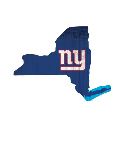 """New York Giants 12"""" Team Color Logo State Sign"""