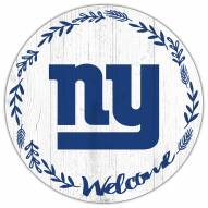 """New York Giants 12"""" Welcome Circle Sign"""