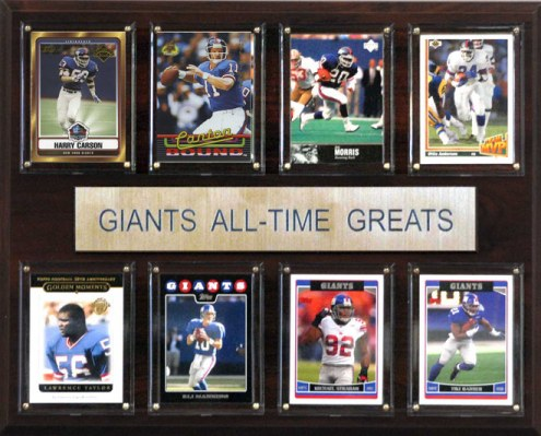 """New York Giants 12"""" x 15"""" All-Time Greats Plaque"""