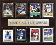 "New York Giants 12"" x 15"" All-Time Greats Plaque"