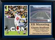 "New York Giants 12"" x 18"" Eli Manning Photo Stat Frame"