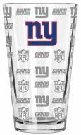 New York Giants 16 oz. Sandblasted Pint Glass