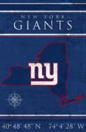 "New York Giants 17"" x 26"" Coordinates Sign"