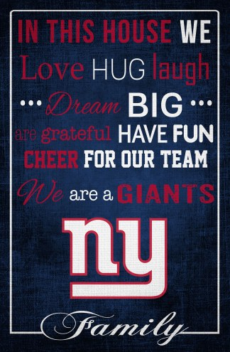 """New York Giants 17"""" x 26"""" In This House Sign"""