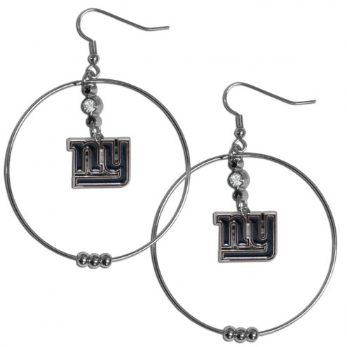 """New York Giants 2"""" Hoop Earrings"""