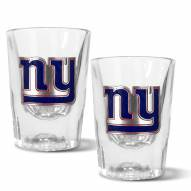 New York Giants 2 oz. Prism Shot Glass Set