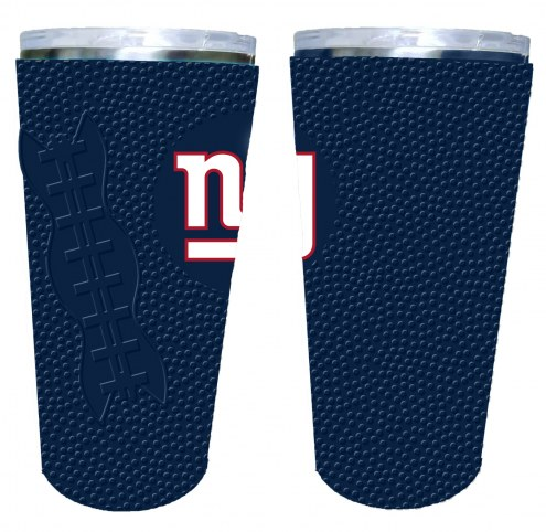 New York Giants 20 oz. Stainless Steel Tumbler with Silicone Wrap
