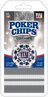 New York Giants 20 Piece Poker Chips Set