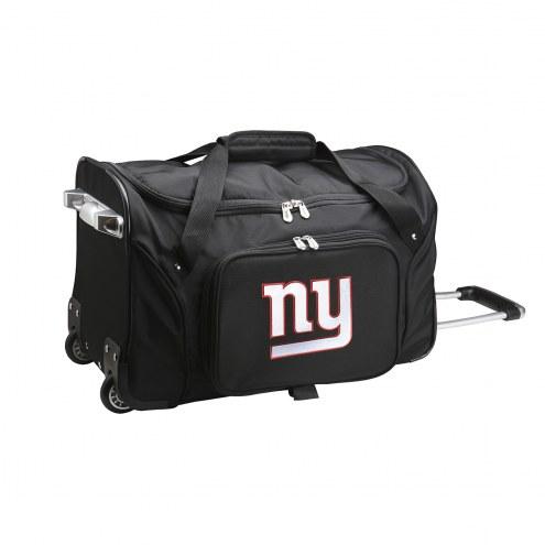 """New York Giants 22"""" Rolling Duffle Bag"""