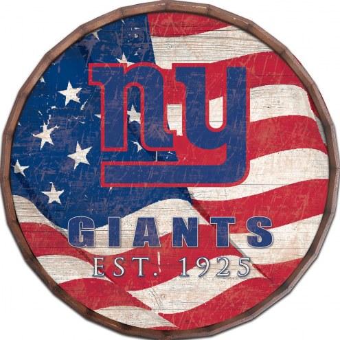 "New York Giants 24"" Flag Barrel Top"