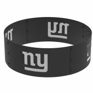 """New York Giants 36"""" Round Steel Fire Ring"""
