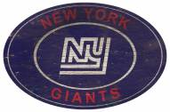 "New York Giants 46"" Heritage Logo Oval Sign"