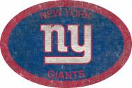 """New York Giants 46"""" Team Color Oval Sign"""