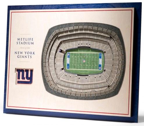 New York Giants 5-Layer StadiumViews 3D Wall Art